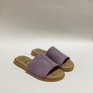 Sorel Ella Block Slides Sandals In Mauve